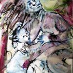 Aquarell auf Papier, 48x36cm
