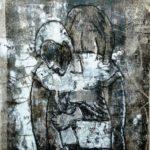 Monotypie, Öl auf Papier, 42x56cm