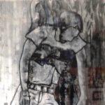 Monotypie, Öl auf Papier, 60x79cm
