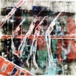 Monotypie, Öl auf Papier, 50x50cm