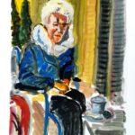 Portraitstudie, Öl auf Papier, 20x30cm