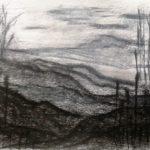 Kohle auf Papier, 20x30cm
