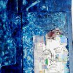 Mischtechnik:Öl auf Papier auf Holz, Leinwand, Collage, 80x100cm
