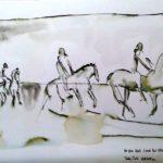 Tinte und Wasser nach Paul Klee, 40x30cm