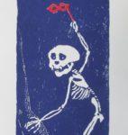 Holzschnitt, Künstlerhanddruck, 14,5x30 cm, Auflage 93, datiert und signiert
