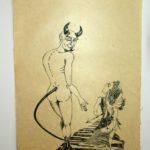 Linolschnitt auf Seidelbastpapier, Auflage 6, Künstlerhanddruck,ca. 55x76cm