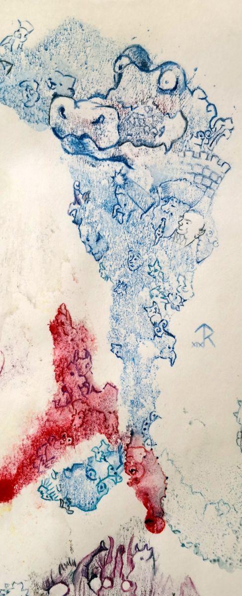 Mischtechnik auf Papier, 29,7x21cm