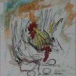 Aquarell auf Papier 48x36 cm