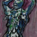 Aquarell auf Blockpapier, 48x36 cm