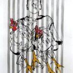 Mischtechnik auf Bütten, 56x76 cm