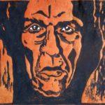 Holzschnitt, Künstlerhanddruck auf Seidelbastpapier, 51x37cm, Auflage 22